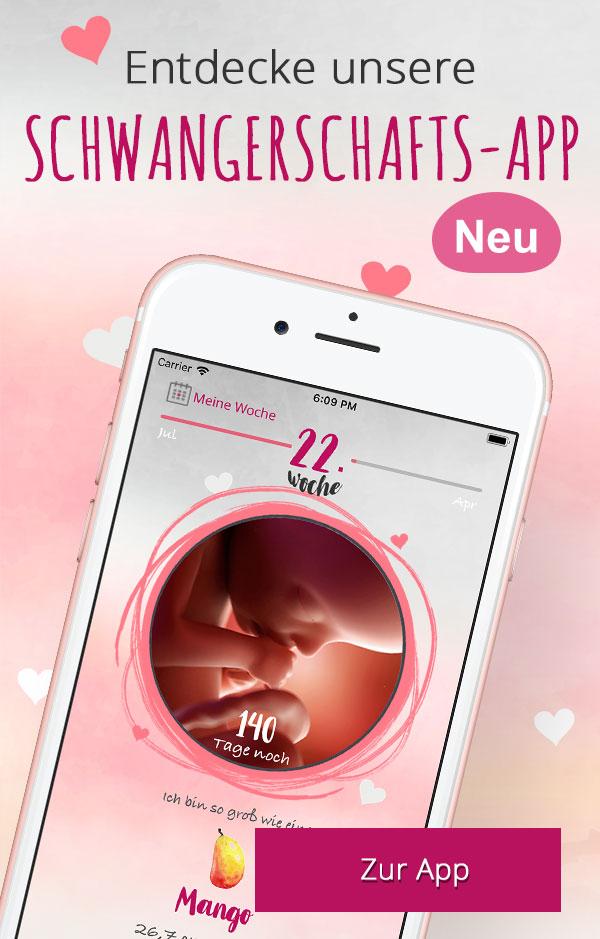 Banner zur Schwangerschafts-App von Windeln.de