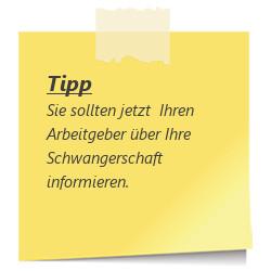 Tipp: Jetzt den Arbeitgeber informieren