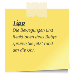 Tipp Bewegungen des Babys