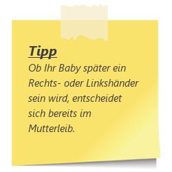 Tipp Baby Links- oder Rechtshaendler