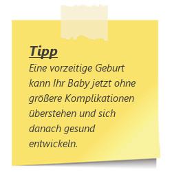 Tipp Vorzeitige Geburt