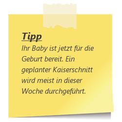 Tipp Baby fuer die Geburt bereit